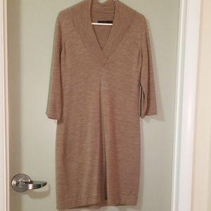 Three Quarter sleeved sweater dress